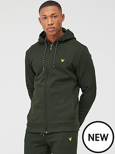 lyle-scott-fitness-full-zip-mid-layer-hoodie-deep-spruce-green