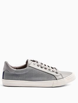 topman-topman-titan-check-trainers-grey