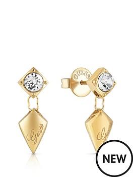 guess-guess-gold-tone-crystal-set-logo-arrow-drop-earrings