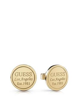 Guess Guess Gold Tone Logo Stud Earrings Picture