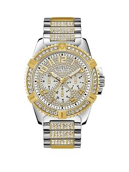 Guess Guess Guess Frontier Silver And Gold Detail Crystal Set Chronograph  ... Picture
