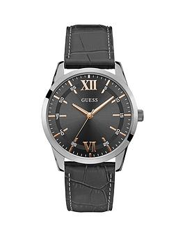 guess-guess-theo-gunmetal-grey-and-rose-gold-detail-dial-grey-leather-strap-mens-watch