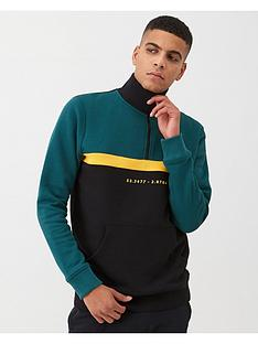 v-by-very-colour-block-funnel-neck-sweater-blackteal