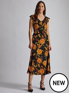 dorothy-perkins-dorothy-perkins-flower-ruffle-midi-dress-multi