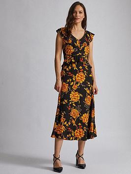 dorothy-perkins-flower-ruffle-midi-dress-multi