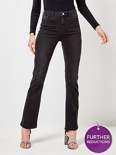 dorothy-perkins-dorothy-perkins-shape-and-lift-kick-flare-jeans-black