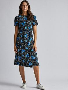 dorothy-perkins-dorothy-perkins-pleated-floral-dress-blue