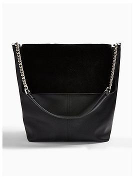 topshop-hattie-suede-mix-slouch-bag-black
