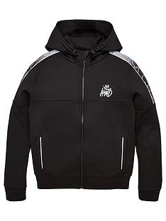 kings-will-dream-boys-linden-camo-zip-through-hoodie-black