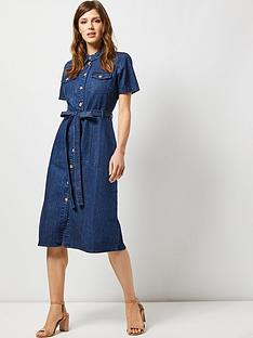 dorothy-perkins-dorothy-perkins-denim-midi-shirt-dress-blue