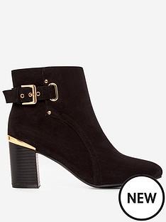 dorothy-perkins-dorothy-perkins-side-buckle-gold-heel-ankle-boots-black
