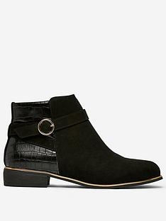 dorothy-perkins-dorothy-perkins-side-buckle-flat-ankle-boots-black