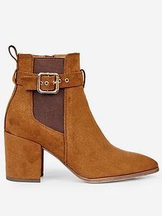 dorothy-perkins-dorothy-perkins-side-buckle-ankle-boots-tan
