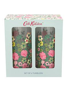 cath-kidston-cath-kidston-hedge-rose-set-of-2-glass-tumblers