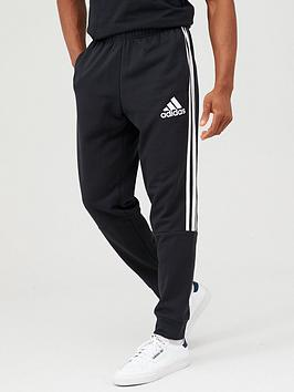 Adidas   3 Stripe Panel Pants - Black/White