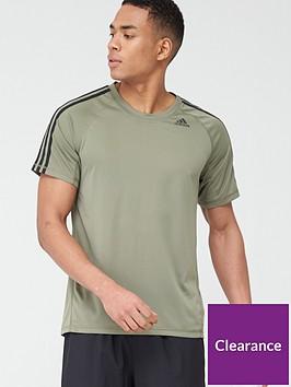 adidas-3-stripe-training-t-shirt-green
