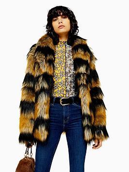 topshop-topshop-tiger-stripe-faux-fur-boxy-jacket-multi