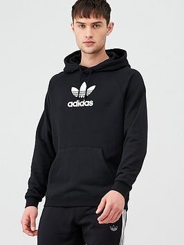 adidas Originals Adidas Originals Premium Overhead Hoodie - Black Picture