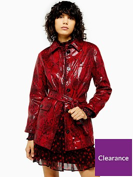 topshop-vinyl-snake-belted-jacket-red