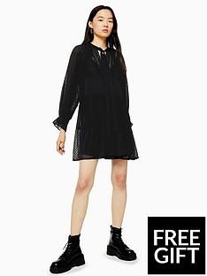 topshop-topshop-dobby-dress-black