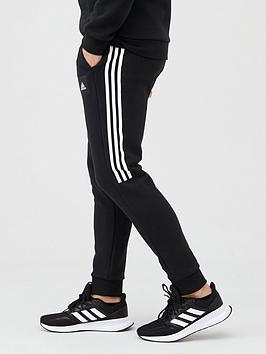 Adidas   Athletics 3 Stripe Pants - Black/White