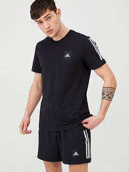 Adidas   3 Stripes T-Shirt - Black