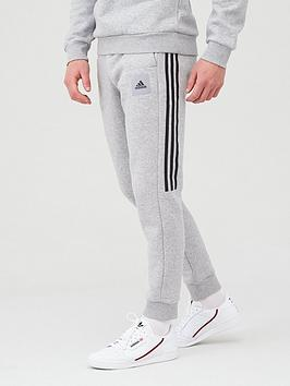 Adidas   Athletics 3 Stripe Pant - Medium Grey Heather