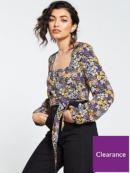 v-by-very-ditsy-button-through-crop-top-purple