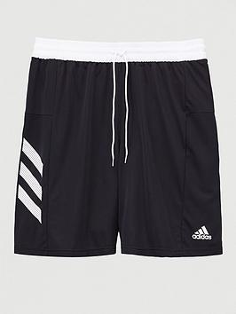 Adidas    Plus Size Basketball 3 Stripe Short