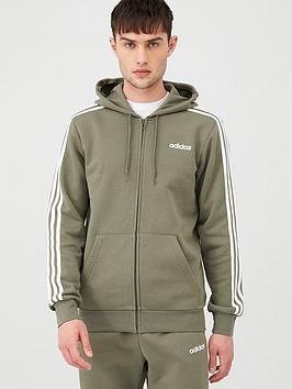 Adidas Adidas 3 Stripes Linear Full Zip Hoodie - Green Picture