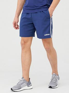 Adidas   3 Stripe Linear Chelsea Short - Blue