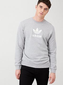 adidas Originals Adidas Originals Premium Crew Neck Sweat - Medium Grey  ... Picture