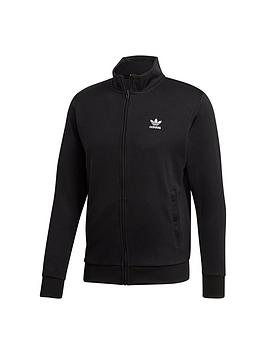 adidas Originals  Adidas Originals Essentials Trefoil Track Top - Black