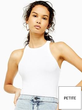 topshop-topshop-petite-racer-vest-white