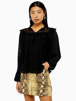 topshop-pleated-blouse-black