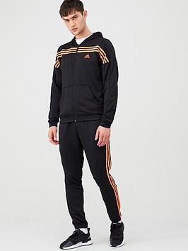 Adidas   Mts Urban Hooded Tracksuit - Black/Red