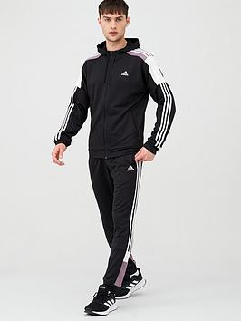 Adidas   Mts Sport Hooded Tracksuit - Black