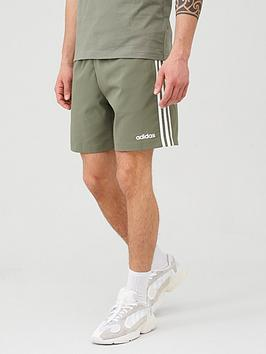 Adidas   3 Stripe Linear Chelsea Short - Green