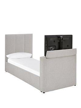 Very Parker Fabric Manual Tv Bed - Fits Up To 32 Inch Tv - Bed Frame With  ... Picture