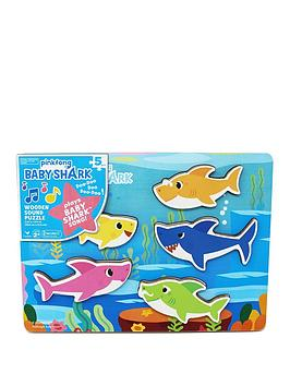 Very Baby Shark Chunky Wood Sound Puzzle Picture