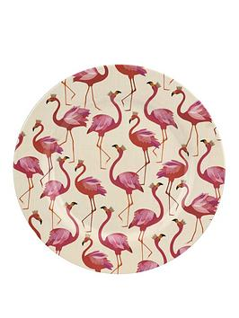 Sara Miller Flamingo Melamine Dinner Plates &Ndash; Set Of 4