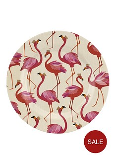 sara-miller-flamingo-melamine-side-plates-ndash-set-of-4