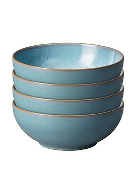 Denby Denby Azure Haze Set Of 4 Coupe Cereal Bowls Picture