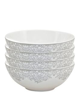 Monsoon Monsoon Denby Filigree Silver Cereal Bowls &Ndash; Set Of 4 Picture