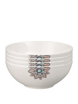 Denby Denby Monsoon Mandala Cereal Bowls &Ndash; Set Of 4 Picture