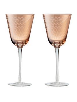 Denby Denby Monsoon Mandala Wine Glasses &Ndash; Set Of 2 Picture