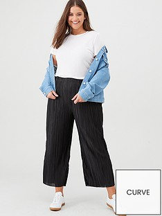 v-by-very-curve-plisse-crop-trousers-black
