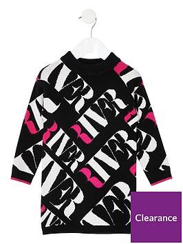 river-island-mini-mini-girls-monogram-jumper-dress