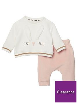 river-island-baby-baby-girls-bunny-sweatshirt-and-legging-set-whitepink