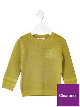 river-island-mini-mini-boys-maison-riviera-knitted-jumper-lime